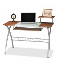 "Mayline Eastwinds Vision 972 47.25"" W Glass Computer Desk (Shown in Medium Cherry)"