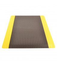 NoTrax 975 Cushion Trax Ultra 3' Wide Laminate Back Vinyl Anti-Fatigue Floor Mat, Black/Yellow