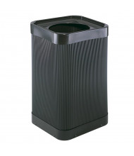 Safco At-Your Disposal 38 Gal. Square Trash Receptacle, Black