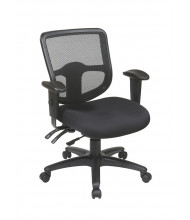 Office Star ProGrid Mesh-Back Fabric Mid-Back Ergonomic Task Chair (Model 98344-30)