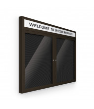 Best-Rite 98PCC-OH Headline Outdoor 2 Door 4 ft. x 3 ft. Coffee Enclosed Directory Board Cabinet