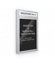 Best-Rite 98PS1-OH Headline Outdoor 1 Door 3 ft. x 3 ft. Silver Enclosed Directory Board Cabinet