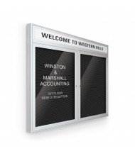 Best-Rite 98PSE-OH Headline Outdoor 2 Door 5 ft. x 3 ft. Silver Enclosed Directory Board Cabinet