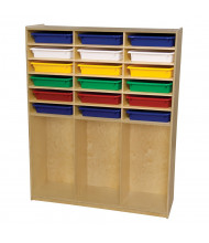 Wood Designs Childrens Classroom Cubby Locker Storage with Assorted Trays