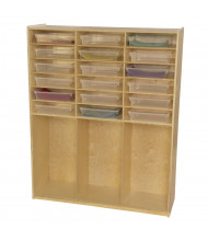 Wood Designs Childrens Classroom Cubby Locker Storage with Clear Trays