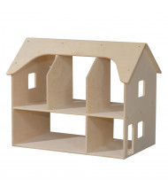 Wood Designs Double Sided Doll House Dramatic Play Set