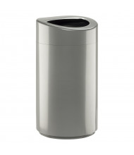 Safco 14 Gal. Open Top Trash Receptacle (Shown in Silver)