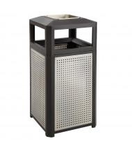 """Safco Evos 15 Gal. 33.25"""" H Ash Urn Steel Cigarette Receptacle, Black"""
