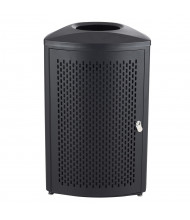 Safco Nook 20 Gal. Indoor Trash Receptacle, Black