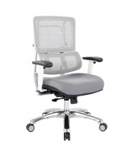 Office Star Pro-Line II Mesh-Back Fabric Mid-Back Computer Office Chair (Shown in Grey)