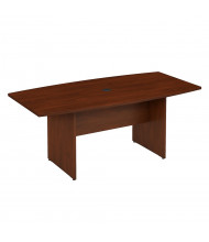 Bush 6 ft Boat-Shaped Conference Table with Wood Base (Shown in Hansen Cherry)