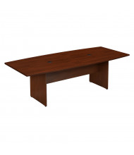 Bush 8 ft Boat-Shaped Conference Table with Wood Base (Shown in Hansen Cherry)