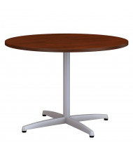 """Bush 42"""" Round Conference Table with Metal X Base (Shown in Hansen Cherry)"""
