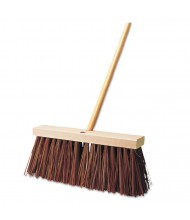 "Rubbermaid 16"" L Street Broom, Brown, Pack of 4"