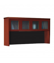 "Mayline Aberdeen AHG72 72"" W Hutch with Glass Doors (Shown in Cherry)"