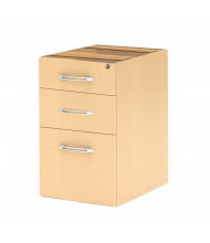 Mayline Aberdeen APBF26 3-Drawer Pencil/Box/File Suspended Desk Pedestal Cabinet (Shown in Maple)