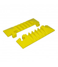 """Checkers 5-Channel 1.25"""" Bumble Bee Cable Protector End Boots with T-Bone Connector, Set of 2  (Shown in Yellow)"""