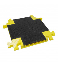 "Checkers 5-Channel 1.25"" Bumble Bee Cable Protector 90-Degree X Intersection with T-Bone Connector in Black/Yellow"