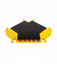"Checkers 5-Channel 1.25"" Bumble Bee Cable Protector 45-Degree Y Intersection with T-Bone Connector in Black/Yellow"