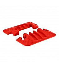 """Checkers 3-Channel 2.25"""" Linebacker Cable Protector End Caps in Orange, Set of 2"""