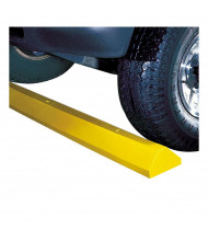 Checkers 4 ft. Recycled Plastic Parking Stop (Standard Model Shown in Yellow)