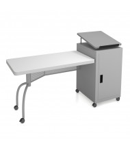 Oklahoma Sound Edupod Lectern Teacher Desk, Grey