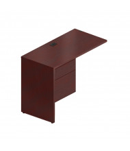 "Global Genoa G2040FL 40"" Return with Pedestal, Left (Shown in Mahogany)"