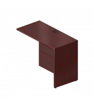 "Global Genoa G2040FR 40"" Return with Pedestal, Right (Shown in Mahogany)"