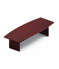 Global 10 ft Boat-Shaped Conference Table, Mahogany