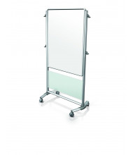 Ghent NEX203ME Nexus 3 x 4 Porcelain Magnetic Mobile Easel, Frosted