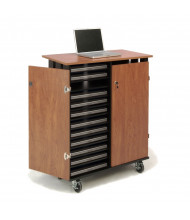 Oklahoma Sound 24 Laptop Capacity Charging Cart, Cherry