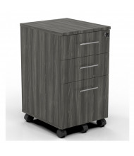 Mayline Medina MNBBF 3-Drawer Box/Box/File Mobile Pedestal Cabinet (Shown in Grey Steel)