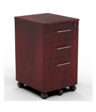 Mayline Medina MNBBF 3-Drawer Box/Box/File Mobile Pedestal Cabinet (Shown in Mahogany)