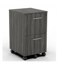 Mayline Medina 2-Drawer Filing Mobile Pedestal Cabinet (Shown in Grey Steel)