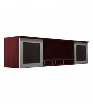 "Mayline Medina 63"" W Hutch with Glass Doors (Shown in Mahogany)"