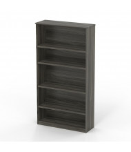 Mayline Medina MVB5 5-Shelf Bookcase (Grey Steel)