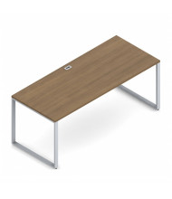 "Global Princeton PN3072DM 72"" W Metal Leg Office Desk (Shown in Cherry)"