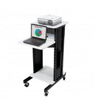 Oklahoma Sound Premium AV Presentation Cart, Ivory White