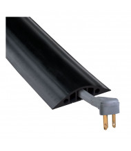 Checkers 3-Channel Rubber Duct Cable Protector in Black (RFD5-10 Model Shown)
