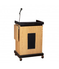 Oklahoma Sound Smart Cart Microphone Lectern (Shown in Light Oak)
