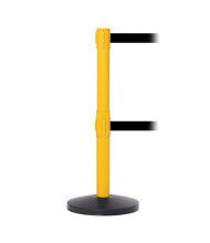 SafetyMaster Twin Safety Belt Barrier Stanchion