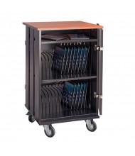 Oklahoma Sound 32 Tablet Capacity Charging Cart, Cherry