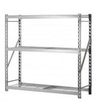 "Sandusky 3-Shelf 72"" H Treadplate Welded Rack Open-Back Storage Shelving Unit"