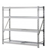 "Sandusky 4-Shelf 72"" H Treadplate Welded Rack Open-Back Storage Shelving Unit"