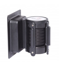 Recessed WallPro Wall-Mounted Belt Barrier in Black