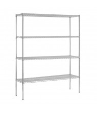 "Sandusky 4-Shelf 74"" H Heavy Duty Chrome Wire Shelving Units"