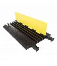 "Checkers 4-Channel 1.25"" Yellow Jacket Cable Protector with Standard Ramp (Shown in Yellow / Black)"