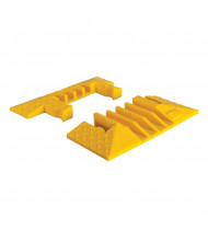 """Checkers 4-Channel 1.25"""" Yellow Jacket Cable Protector End Boots in Yellow, Set of 2"""