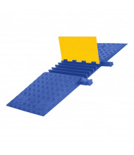 "Checkers 5-Channel 1.325"" Yellow Jacket Cable Protector with ADA Ramp (Shown in Yellow / Blue)"