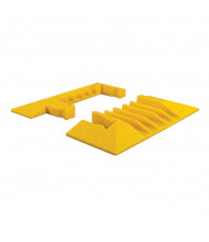 """Checkers 5-Channel 1.125"""" Yellow Jacket Cable Protector End Boots in Yellow, Set of 2"""